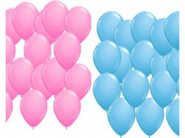 Brown Leaf 100 PCs Pink & Blue Balloon Birthday Wedding Party Medium size High Quality Balloon (50 Pcs Blue & 50 Pcs Pink)