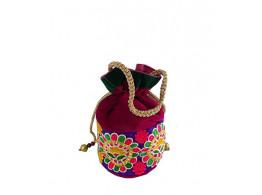 Brown Leaf Designer Potli Bag for Women Ladies girls