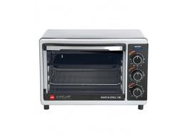 Cello Bake N Grill 100 1000-Watt Oven Toaster Griller (Stainless steel Black)