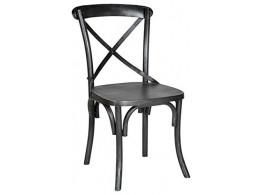 Iron chair Cross back(Black)