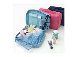 Brown Leaf Multipurpose Travel Cosmetic Makeup Toiletry Case Wash Organizer Storage Pouch Hanging Bag - Orange