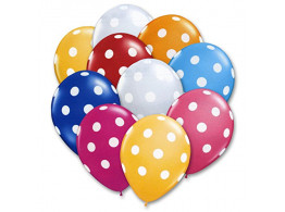 Brown Leaf Polka Dot Printed Balloon Multi-color(size- Medium) Pack of 50