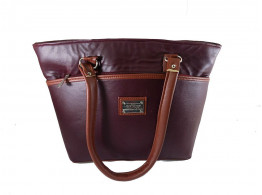 Brown Leaf Women Regular Series Office college Handbag bag for women,Girls,Ladies