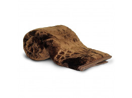 Little India Rich Look Soft Floral Embossed Single Blanket - Coffee Brown (DLI4SBK111)