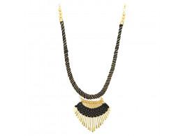 Archiecs Creations Alloy Silk Thread Black & Golden Charm Necklace for Women