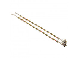 Archiecs Creations Gold Plated Pearl Stud Anklet for Women