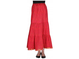 Archiecs Creations Women's Cotton Regular Fit Skirt (Pink)