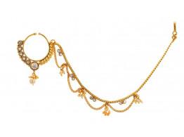 SPE Indian Ethnics Golden Nose Ring for Women (NR-31)