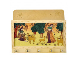 Little India Gemstone Painting Key Magazine Holder (25.4 cm x 12.7 cm,HCF102)