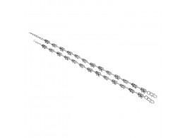 Archiecs Creations White Metal Ethnic Silver Anklet for Women