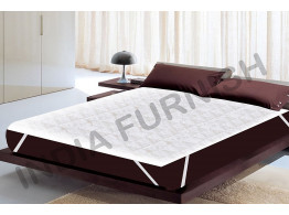 "India Furnish Waterproof Quilted Mattress Protector King Size with Elastic Band - White 75""x72"""