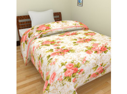 SS Sales Red Floral Ac Single Microfiber Blanket (54 X 84 Inches, Multicolor)