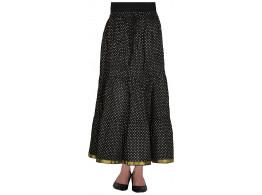 Archiecs Creations Women's Cotton Regular Fit Skirt (Black)-Free Size
