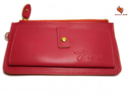 Brown Leaf Regular Series Red hand wallet clutch for women Girls ladies