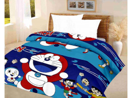 kids quilt doraemon Blue A.C Blanket single bed size Dohar