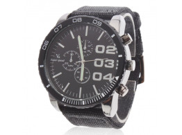 Men'S Watch Circle Grey, Blue, Black Automatic Length 26Cm Alloy With Steel Strap Watch