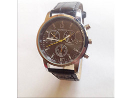 Angelfish Men's & Women'S Watch Circle Cool Movement Length 25.5Cm Alloy With PU Strap Watch Brown