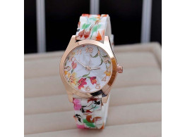 Geneva wrist watch jelly candy rose for women