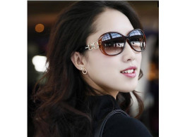 Women Sunglasses Jade Crystal Textured Elegant