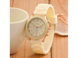 Women's or Girl's Watch Fashion Silicone Strap Candy Color Length 25Cm Light Yellow