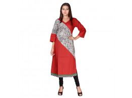 Bhoomi Red with black human print Kurti