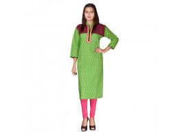 Bhoomi Casual Printed Women's Kurti  (Sea Green)