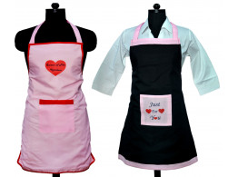 Switchon Waterproof Apron with Heart shape print set of 2