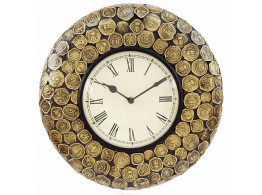 Vintage Wooden Coin Illusion Wall Clock
