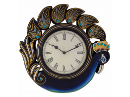 Vintage Eligant Peacock Wall Clock