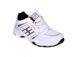 Glamour White Red Sports Shoes (ART-3052)