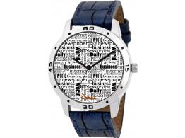 EXCEL Newspaper Print Men's Watch