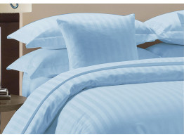 Egyptian Cotton Beddings Bed Sheet With Pillow Covers - Light Blue
