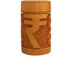 Divinecrafts Rupee Carved Pen Stand. Showpiece - 10.16 cm  (Wooden, Brown)