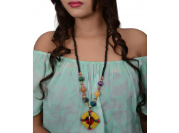 Trinetra Beads Alloy Necklace