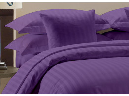Egyptian Cotton Beddings Bed Sheet With Pillow Covers - Purple