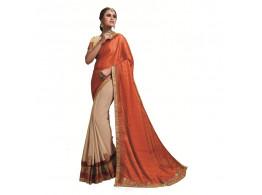 Ridham Fashions Multi Color Georgette Designer Saree