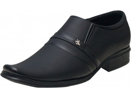 Rudose Men's Black Synthetic Leather Formal Shoes