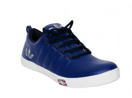 RUDOSE Men's Navy Blue ADIDAS Synthetic Leather Sneakers & Casual Shoes