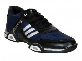 RUDOSE Men's Navy Blue & Black Running Sports & Casual Shoes