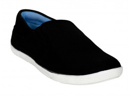 Rudose Mens Black Stylish Casual Canvas Sneakers