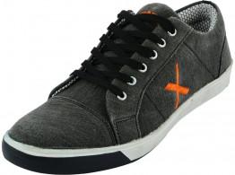 Rudose Mens Grey Denim Sneakers