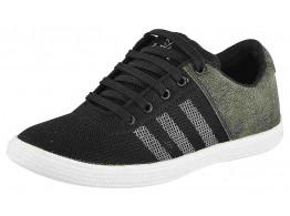 Rock Passion Men's Black Casual Sneaker shoes