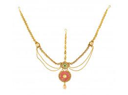 Spe Indian Ethnics Golden Copper Maang Tikka for Women (FHL-04)