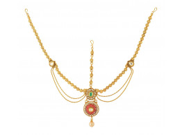 Spe Indian Ethnics Golden Copper Maang Tikka for Women (FHL-05)