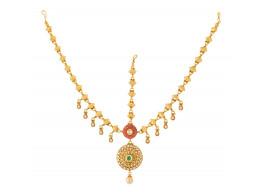 Spe Indian Ethnics Golden Copper Maang Tikka for Women (FHL-06)