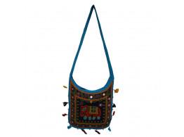 The Living Craft ETHNIC U-SHAPED WOMEN's SLINGBAG with AARI WORK Multicolor TLCBG0266