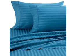 Egyptian Cotton Beddings Bed Sheet With Pillow Covers - Turqiose blue