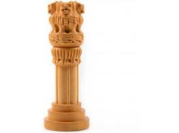 Divinecrafts Decorative Ashoka Pillar Showpiece - 10.16 cm  (Wooden, Brown)