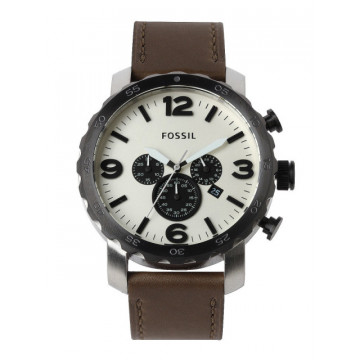 Fossil JR1390I Men White Dial Chronograph Watch