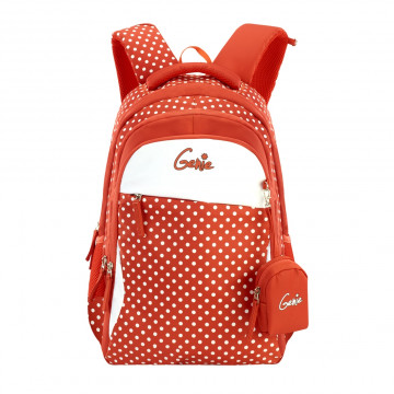 GENIE CLASSIC ORANGE 18 SCHOOL BAGS FOR GIRLS